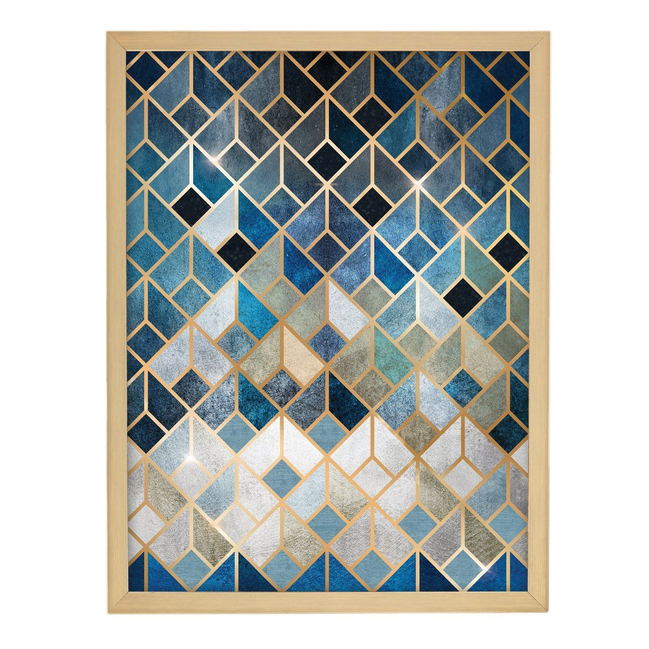 Obraz-Geometric-30x40cm-goldnavy